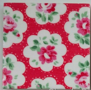 Wall Tiles in Cath Kidston Provence Rose in Red 100mm 150mm